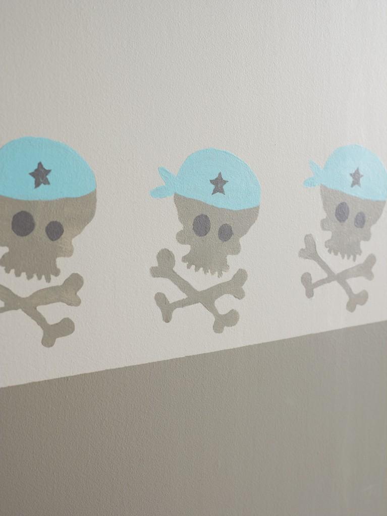 Sjablonger til vegg barn ? Speil med lyspaerer rundt