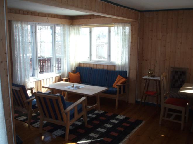 Denne delen av stuen ble spisestue i den nye løsningen.