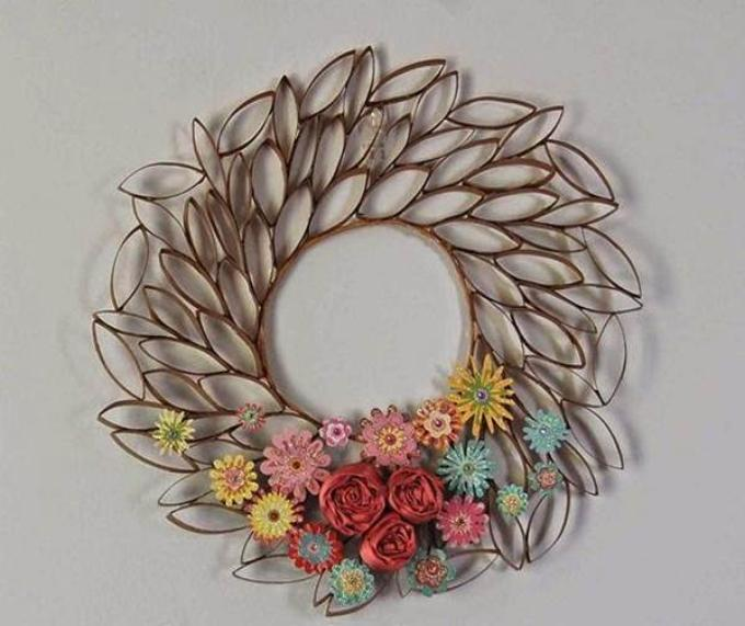 Pics photos how to diy toilet paper roll flower wall art 2