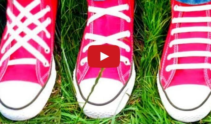 Lær å knyte skoene dine på 3 kreative måter! Kreative Idéer