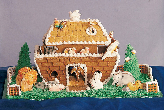 Disse pepperkakehusene vil f deg til m pe kreative id er for Cool designs for gingerbread houses