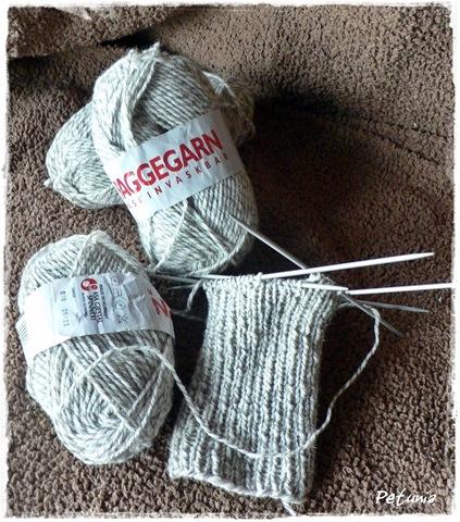 Raggegarn til å strikke sokker.