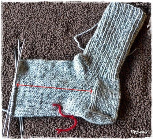 Strikking av sokker frem til tåfelling.