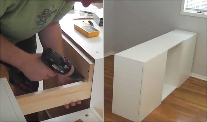 Se hva han gjorde med 7 kjokkenskap fra IKEA Overraskende smart! Kreative Idéer
