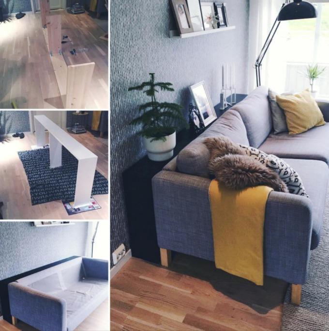 Konsollbord Bak Sofa