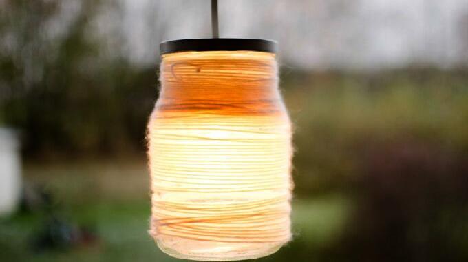 19 Glass Lampe