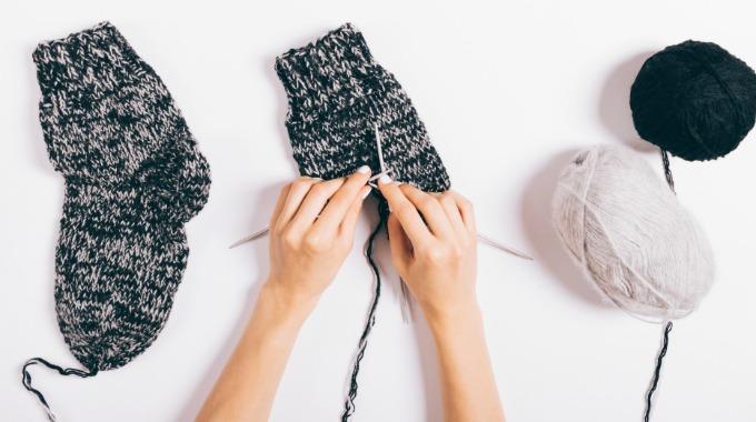 36e9d4c8 Strikke Sokker 1 - Kreative Idéer