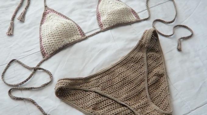 e21588e90 Slik kan du hekle sommerens fineste bikini - Kreative Idéer