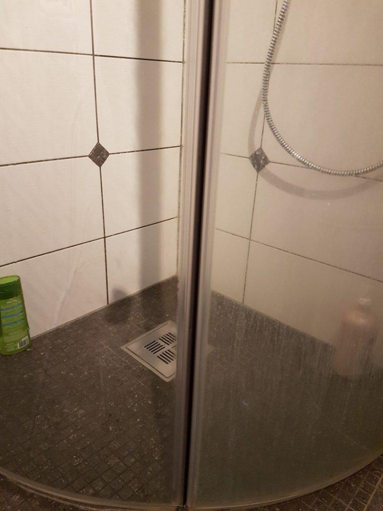 Vaske dusj - før