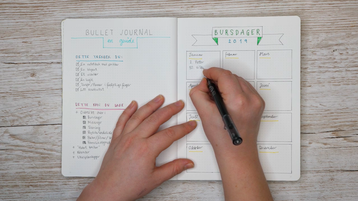 36cf75f8 Øk produktiviteten og å få god oversikt med Bullet Journaling. FOTO:  Redaksjonen